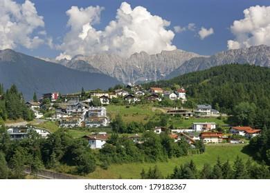 Town of Imst in Tirol, Austria