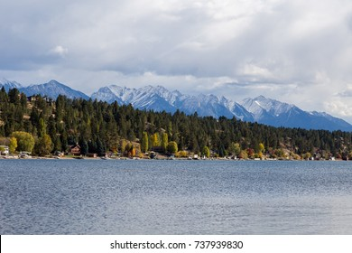 Town of Invermere as seen from Kinsmen Beach.