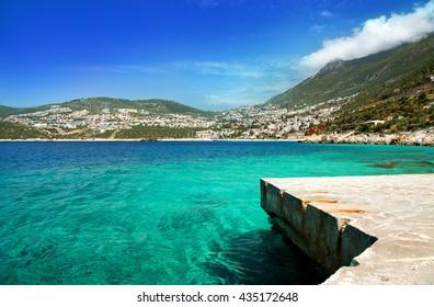 Town Kalkan, Mediterranean Coast, Antalya, Turkey