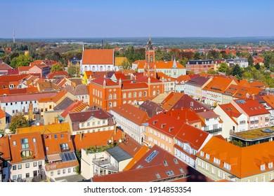die Stadt Kamenz in Sachsen
