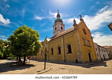 Town of Karlovac church and architecture, central Croatia