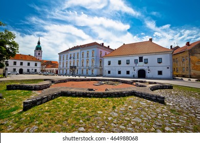 Town of Karlovac church and square view, central Croatia