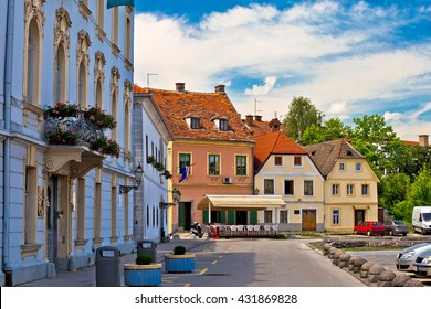 Town of Karlovac street view, central Croatia