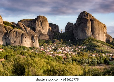 The town of Kastraki, Meteora, Greece