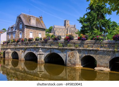 the town Lamballe, Brittany in France