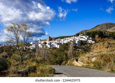 The town of Laujar de Andarax in La Alpujarra Almeriense, Almeria, Spain.