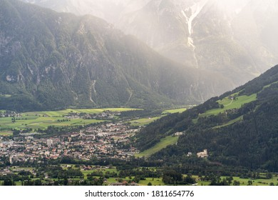 Town of Lienz in Austrian alps