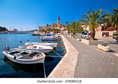 Town of Milna on Brac island waterfront view, Dalmatia, Croatia