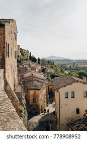 Town of Montepulciano in Tuscany, Italy