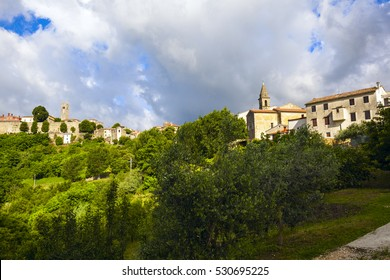 town of Motovun is famous with truffles growing on the hillsides. Istria, Croatia.