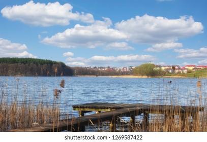 Town of Mragowo in Masuria,Poland