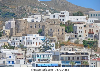 The town of Naxos on the Island of Naxos in Greece.