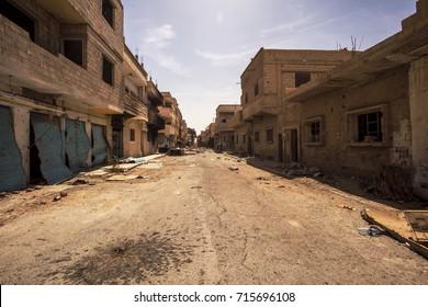 Town near Palmyra in Syria