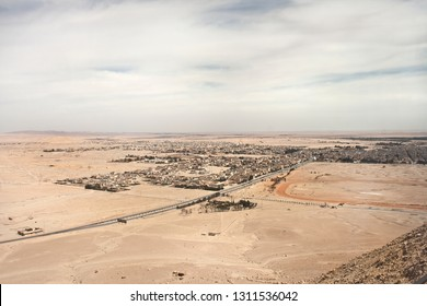 Town next to Temple of Bel in Palmyra, Syria