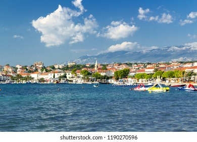 Town of Novalja landscape view, Island of Pag, Croatia, Europe