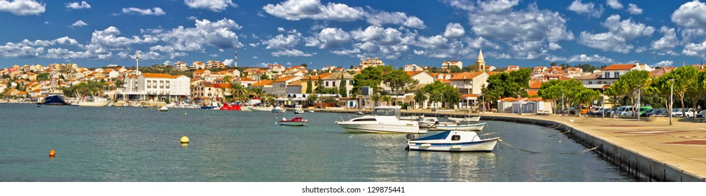 Town of Novalja, Pag island, Croatia - colorful panorama