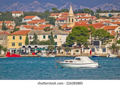 Town of Novalja waterfront view, Island of Pag, Croatia