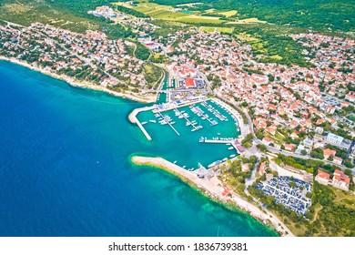 Town of Novi Vinodolski aerial panoramic view, Adriatic sea, Kvarner region of Croatia - Shutterstock ID 1836739381