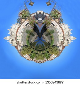 Town on a minature planet