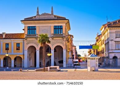 Town of Palmanova colorful street view, Friuli Venezia Giulia region of Italy