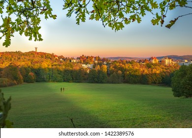 Town park in Plauen. Plauen is a town in the Free State of Saxony, Germany.
