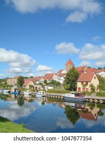Town of Plau am See at Elde River,Mecklenburg Lake district,Germany