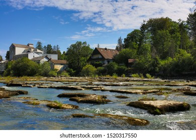 the town of Pont de Poitte French Jura