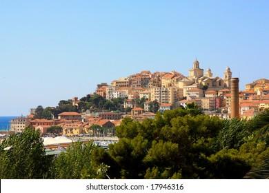 The town of Porto Maurizio in LIguria, Italy
