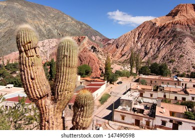 The town of Purmamarca in the Province of Jujuy in Argentina, South america.