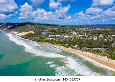 The town of Rainbow Beach on a sunny day in QLD, Australia