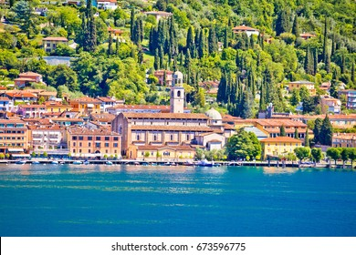 Town of Salo waterfront view, Lago di Garda, Lombardy, Italy
