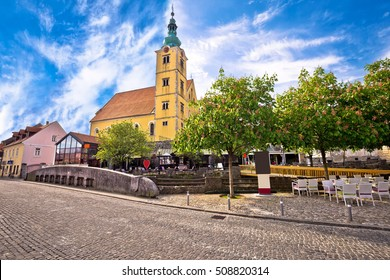 Town of Samobor church and squre view, northern Croatia