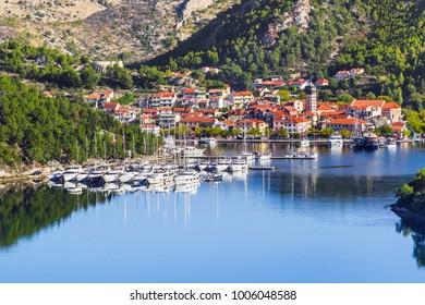 Town of Skradin on Krka river, Dalmatia, Croatia