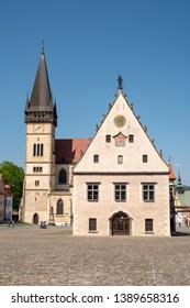 Town square in Bardejov Slovakia