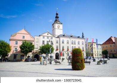 Town square of Dzierzoniow, Lower Silesia, Poland