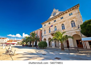 Town of Stari Grad waterfront architecture, island of Hvar, Croatia