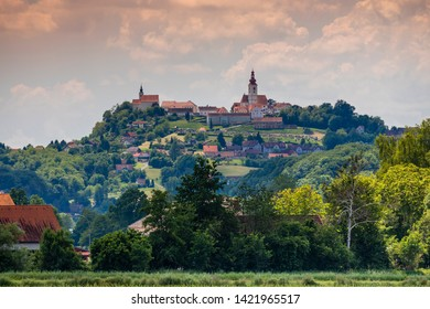 Town Straden and wineyards in Styria, Austria