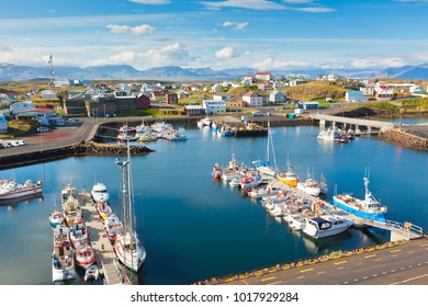 The town of Stykkisholmur, Snaefellsnes peninsula, the western part of Iceland