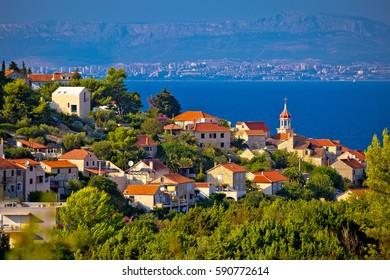 Town of Sutivan coast view, Island of Brac, Dalmatia, Croatia