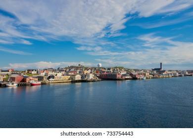 The town of Vardo in Finnmark county, Norway. Vardo is the easternmost town in Norway.