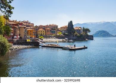 Town of Varenna on lake Como in Milan, Italy.