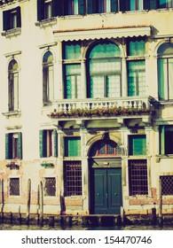 Town of Venice (Venezia) in Italy vintage looking