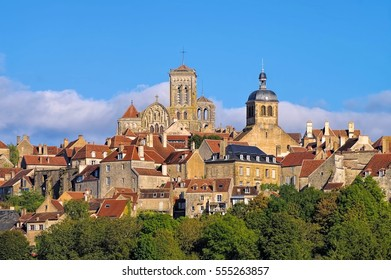 the town Vezelay, Burgundy in France