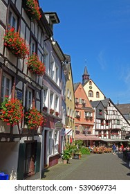 town view with half-timbered houses, Germany