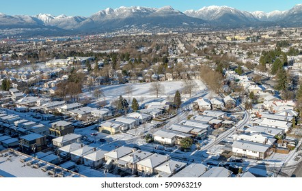 Town views during winter in Vancouver Canada Dec 2016