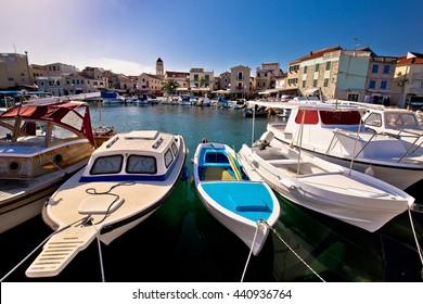 Town of Vodice tourist waterfront view, Dalmatia, Croatia