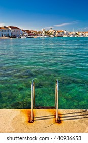 Town of Vodice view from beach, Dalmatia, Croatia