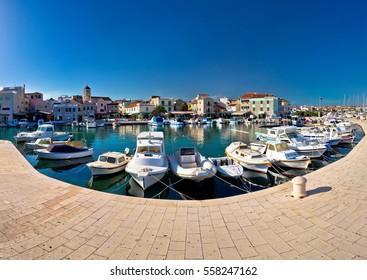Town of Vodice waterfront panorama, Dalmatia, Croatia