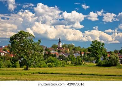Town of Vrbovec landscape and architecture, Prigorje region of Croatia