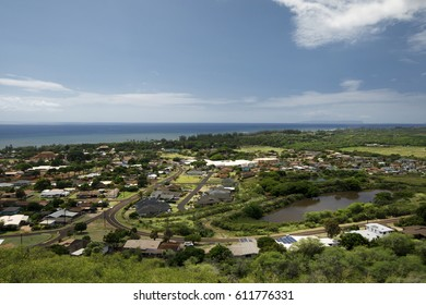 Town of Waimea on Kauai's Southern coast, Hawaii